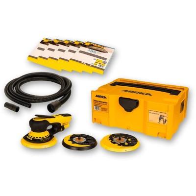 Mirka DEROS 5650CV Random Sander Deco Solution Kit with 50 ABRANET Discs + Hose