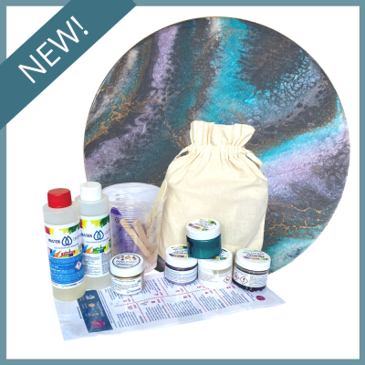 Resin Art Gift Pack - Teal Quartz Pearlescent
