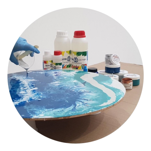Resin Art Workshops at our Dunsfold Resin Art Academy